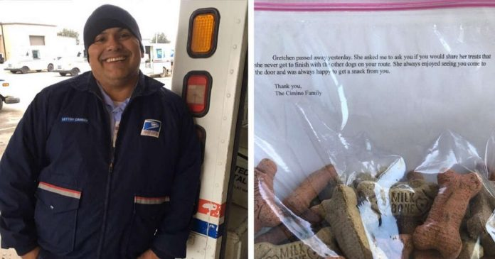 Mailman Fulfills The Final Wish Of A Dog Who Passed Away On His Route PAWS PLANET