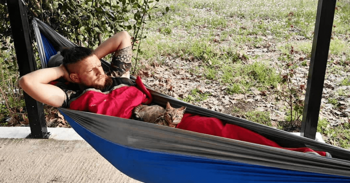 Man Cycling Around World Finds A Stray Kitten And Brings Her On His Journey PAWS PLANET