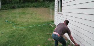 Watch As Funny Baby Moose Attacks Backyard Sprinkler