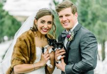 Veterinarian Couple Invites Two Special Guests To Join Their Wedding Party